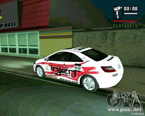 Honda Civic 2006 Coupe 1.1 para GTA San Andreas left