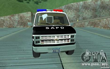 Chevrolet G20 Enforcer para GTA San Andreas left