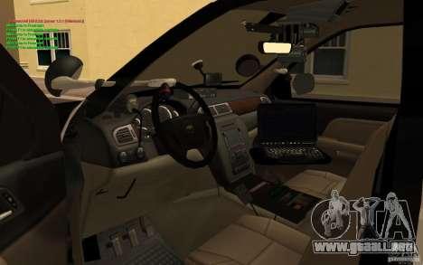 Chevrolet Tahoe SAPD para la visión correcta GTA San Andreas