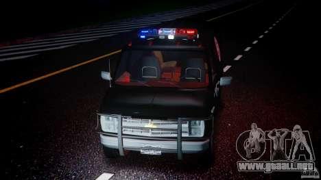Chevrolet G20 Police Van [ELS] para GTA 4 vista lateral