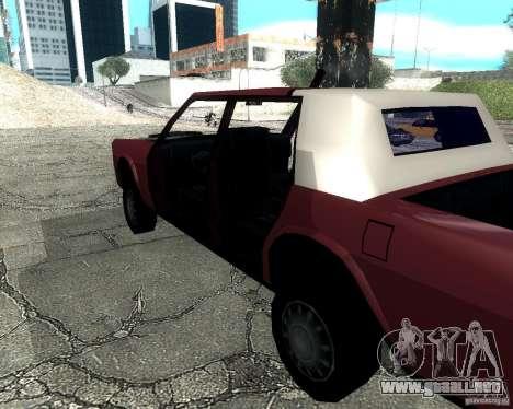 Derby Greenwood Killer para GTA San Andreas vista posterior izquierda