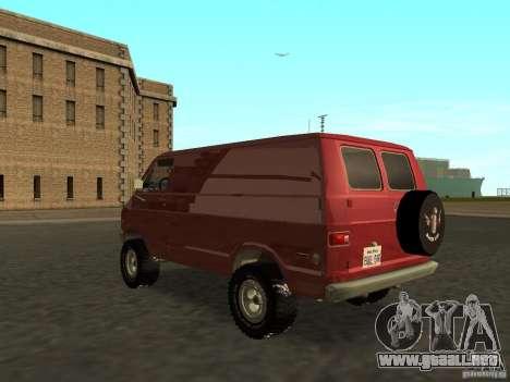 Dodge Tradesman 7z para GTA San Andreas left
