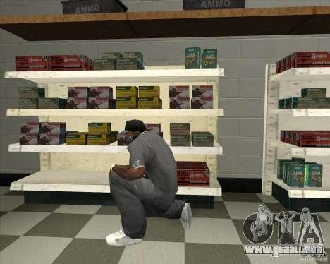New Ammunation para GTA San Andreas segunda pantalla