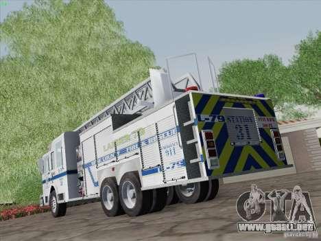 Pierce Puc Aerials. Bone County Fire & Ladder 79 para vista lateral GTA San Andreas