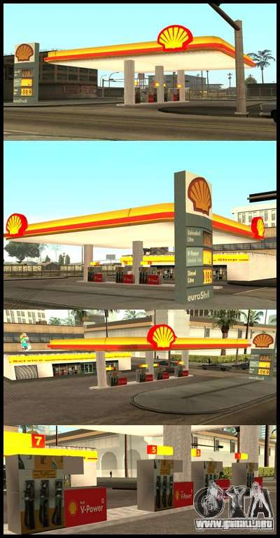 Shell station para GTA San Andreas