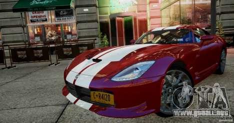 Dodge Viper GTS 2013 para GTA 4 left