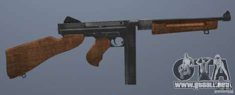 M1 Thompson para GTA San Andreas sucesivamente de pantalla