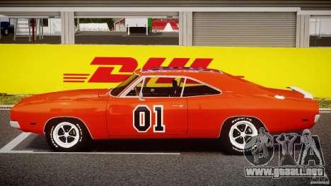 Dodge Charger General Lee 1969 para GTA 4 vista interior