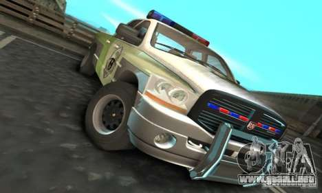 Dodge Ram 1500 POLICE 2008 para GTA San Andreas left