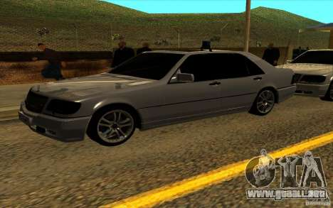 Mercedes-Benz S600L 1998 para la vista superior GTA San Andreas
