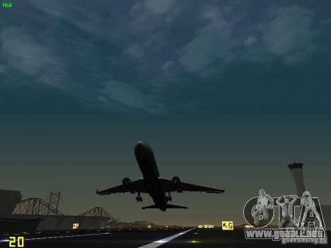 Boeing 767-400ER Delta Airlines para vista lateral GTA San Andreas