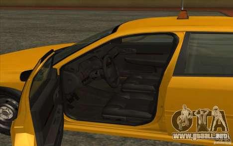 Chevrolet Impala Taxi 2003 para GTA San Andreas vista posterior izquierda