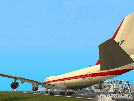 Boeing 747-100 para GTA San Andreas vista posterior izquierda