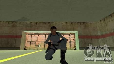 Lara Croft para GTA San Andreas quinta pantalla