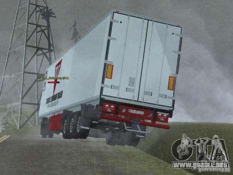 Remolque frigorífico para GTA San Andreas vista posterior izquierda