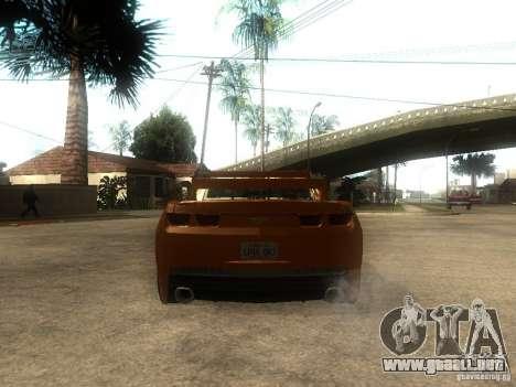 Chevrolet Camaro SS Dark Custom Tuning para GTA San Andreas vista posterior izquierda