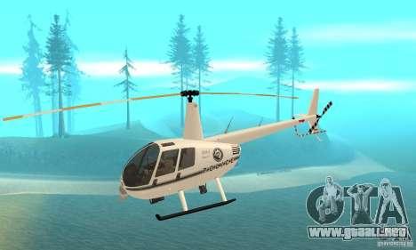 Robinson R44 Raven II NC 1.0 blanco para GTA San Andreas
