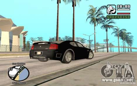 Dodge Charger SRT8 para la vista superior GTA San Andreas