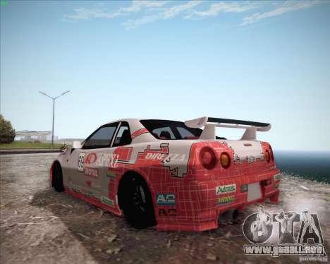 Nissan Skyline Z-Tune v2.0 para GTA San Andreas vista hacia atrás