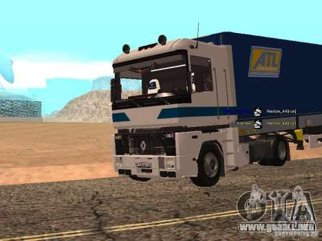 Renault Magnum Sommer Container para GTA San Andreas left