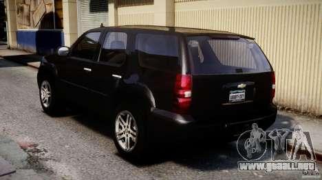 Chevrolet Tahoe 2007 para GTA 4 Vista posterior izquierda