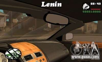 El guión de CLEO: vista desde la cabina para GTA San Andreas quinta pantalla