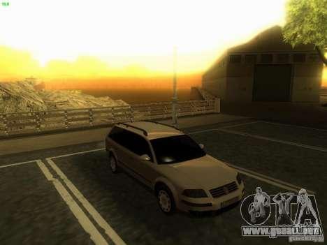 Vw Passat B5+ Wagon 1,9 TDi para la visión correcta GTA San Andreas