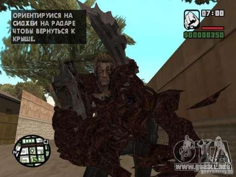 Wesker Ouroboros para GTA San Andreas sucesivamente de pantalla