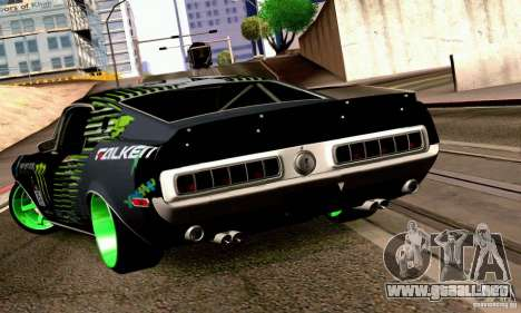 Shelby GT500 Monster Drift para GTA San Andreas left