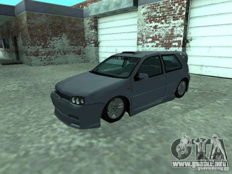 Volkswagen Golf IV para la vista superior GTA San Andreas
