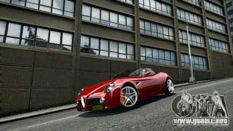 Alfa Romeo 8C Spyder para GTA 4 visión correcta