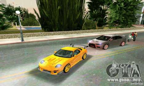 Mazda RX7 RE-Amemiya para GTA Vice City vista lateral izquierdo