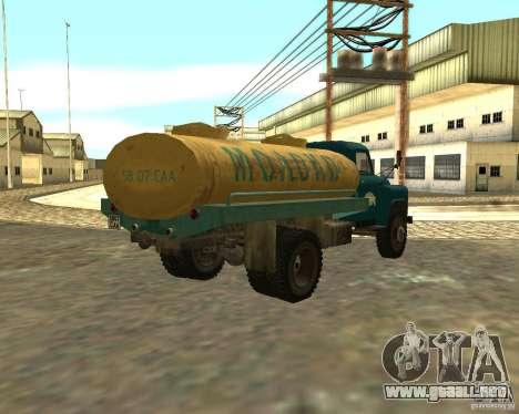CAMIÓN GAZ 53-12-3 para GTA San Andreas vista posterior izquierda