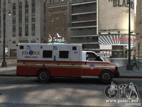 Chevrolet Ambulance FDNY v1.3 para GTA 4 visión correcta