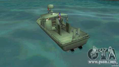 Río bote patrulla Mark 2 (Player_At_Wheel) para GTA Vice City vista lateral izquierdo