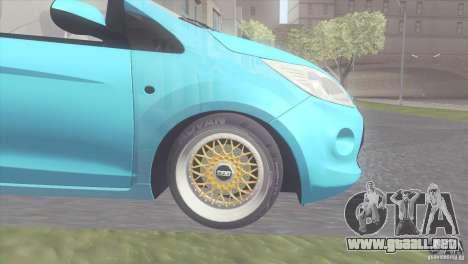Ford Ka Stance Perry Edtion para GTA San Andreas vista posterior izquierda