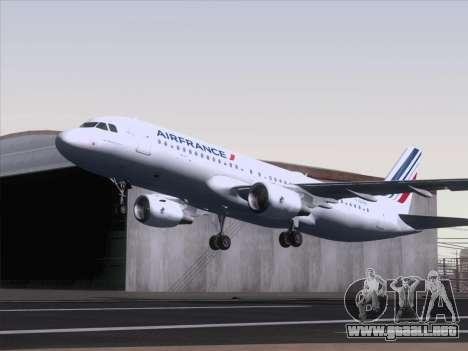 Airbus A320-211 Air France para GTA San Andreas vista posterior izquierda