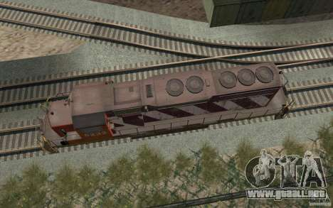 CN SD40 ZEBRA STRIPES para vista lateral GTA San Andreas