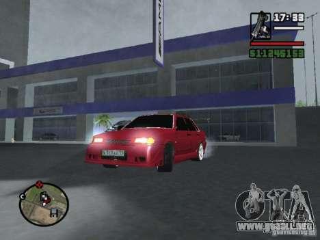 VAZ 2115 TUNING para GTA San Andreas vista hacia atrás