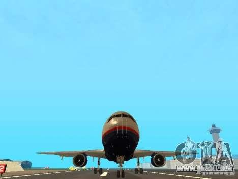 McDonell Douglas DC10 United Airlines para GTA San Andreas vista hacia atrás