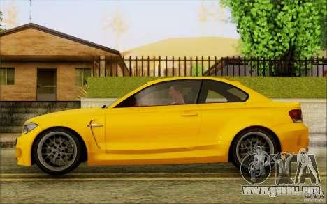 BMW 1M Coupe para GTA San Andreas vista posterior izquierda