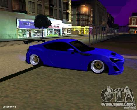 Scion FR13 para vista inferior GTA San Andreas