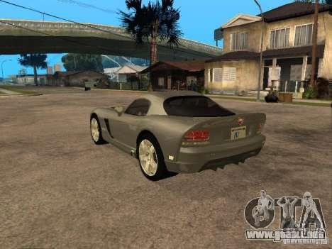 Dodge Viper Coupe 2008 para GTA San Andreas left