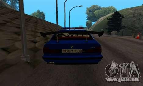 BMW M5 POLICE para la visión correcta GTA San Andreas