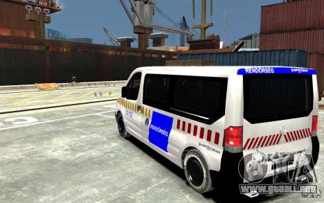 Opel Vivaro Hungarian Police Van para GTA 4 Vista posterior izquierda