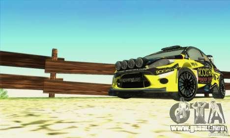 Ford Fiesta Rockstar Energy para la visión correcta GTA San Andreas