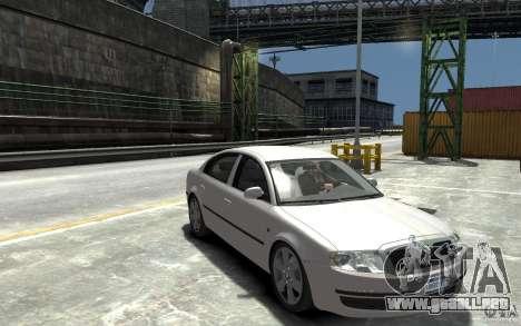 Skoda SuperB para GTA 4 vista hacia atrás