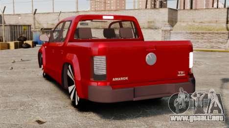 Volkswagen Amarok 2.0 TDi AWD Trendline 2012 para GTA 4 Vista posterior izquierda