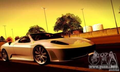 Ferrari F430 Spider para GTA San Andreas interior