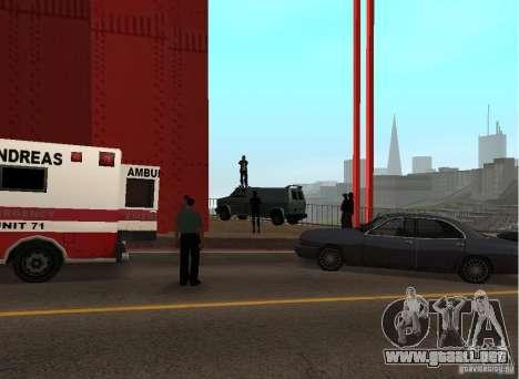 Un terrorista suicida en el puente para GTA San Andreas tercera pantalla